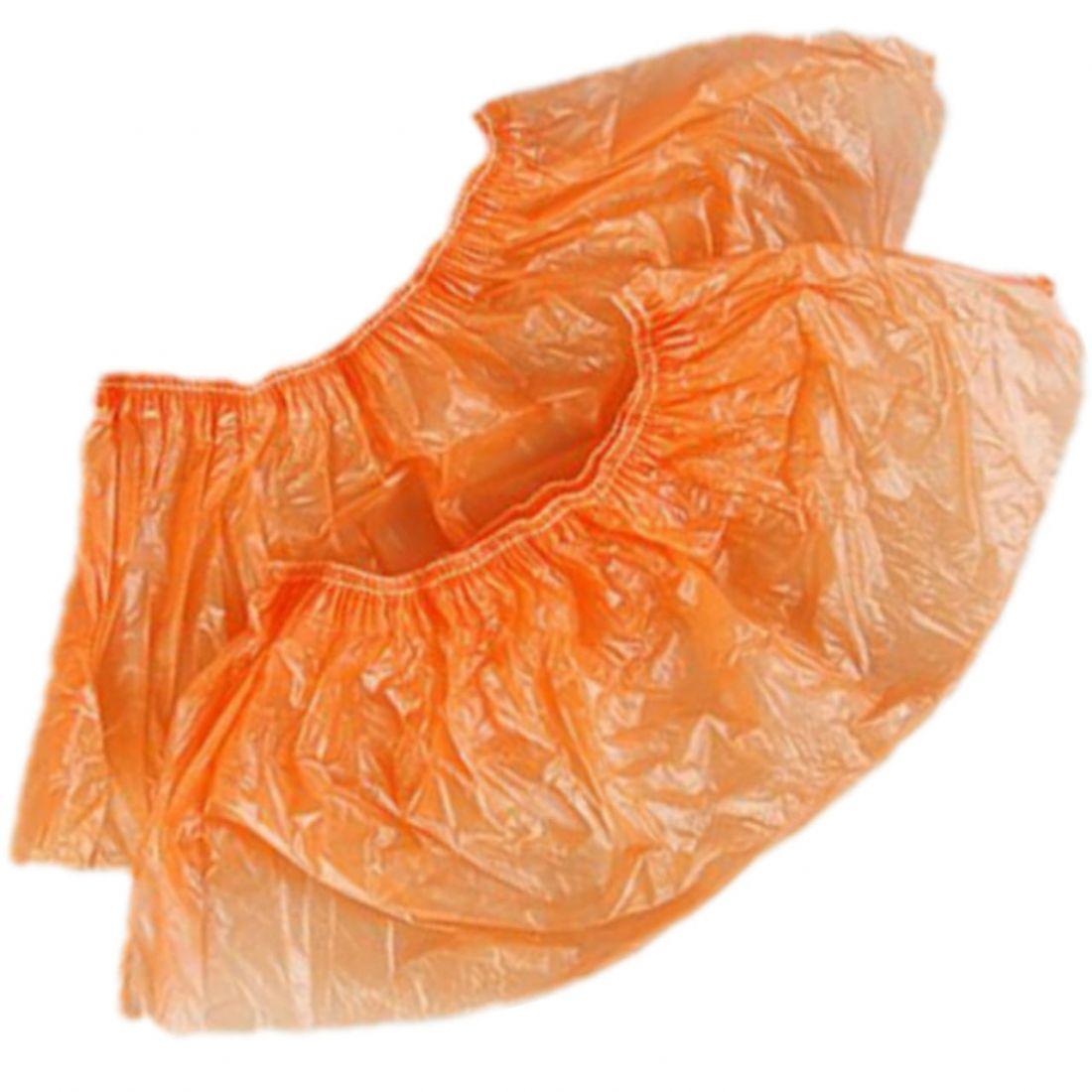 Бахилы п/э оранжевые (стандарт) 50 пар