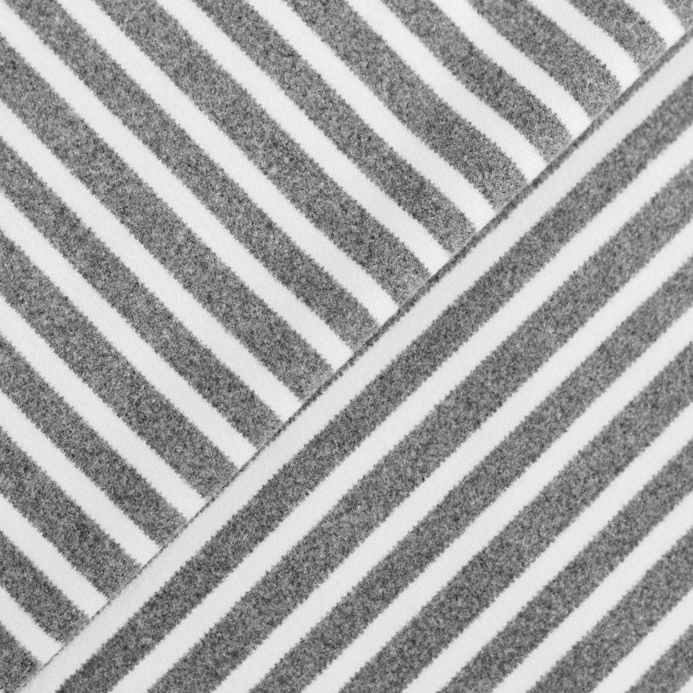 Лоскут трикотажной ткани - Фланель серая полоска 8 мм  50х38