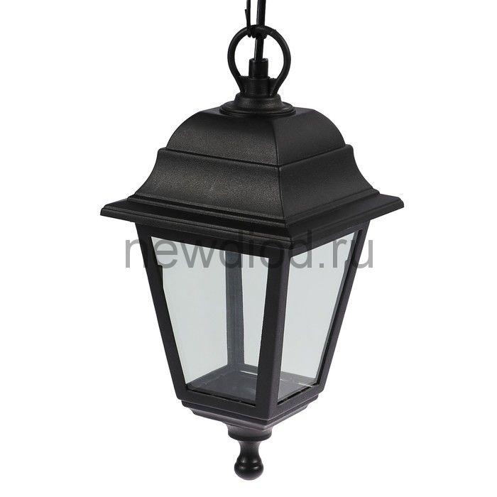 Светильник Luazon 01-4, садово-парковый, четырехгранник, E27, подвес, черный