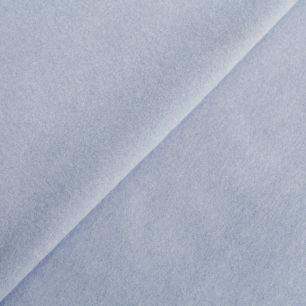 Лоскут трикотажной ткани - Фланель голубая 80х20 УЦЕНКА нестандарт