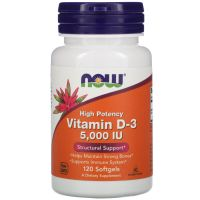 Now Food Vitamin D-3 5000 МЕ 120 таб