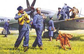 Пилоты и техники ВВС Великобритании, фигуры