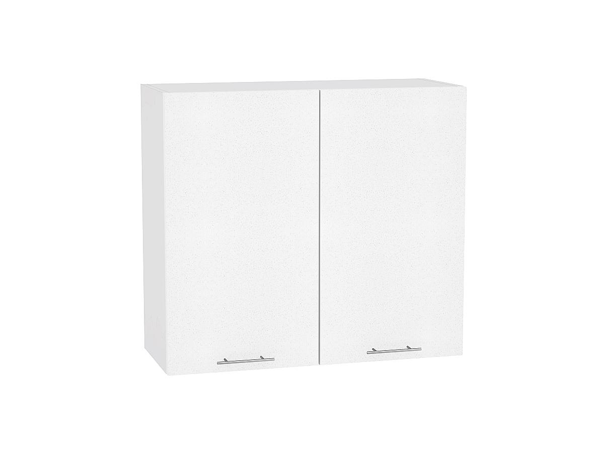 Шкаф верхний Валерия В809 (белый металлик)