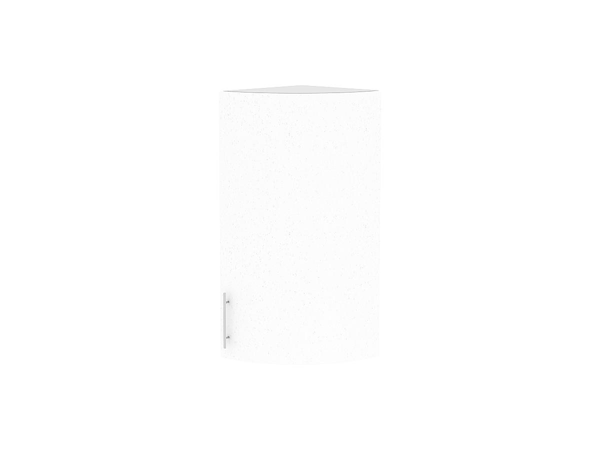 Шкаф верхний торцевой Валерия ВТ230S (белый металлик)