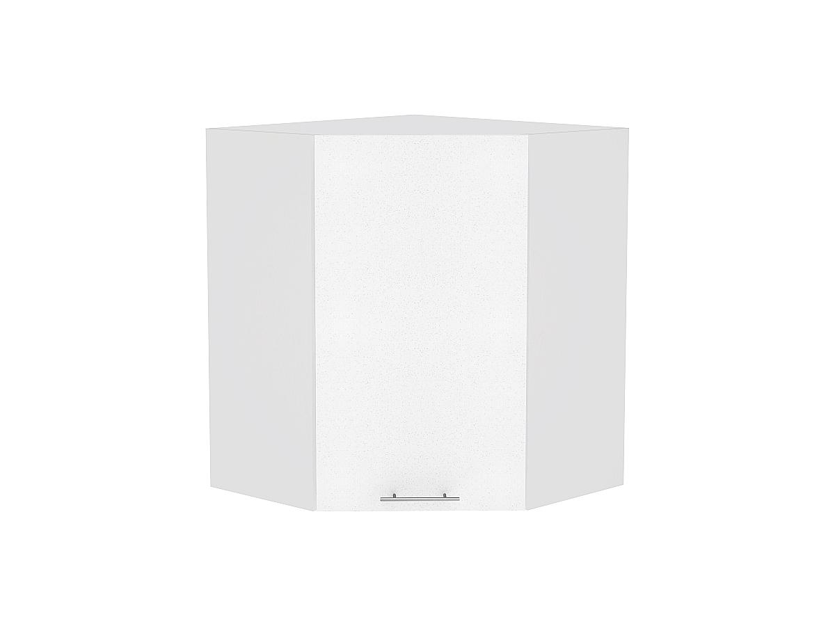 Шкаф верхний угловой Валерия ВУ599 (белый металлик)