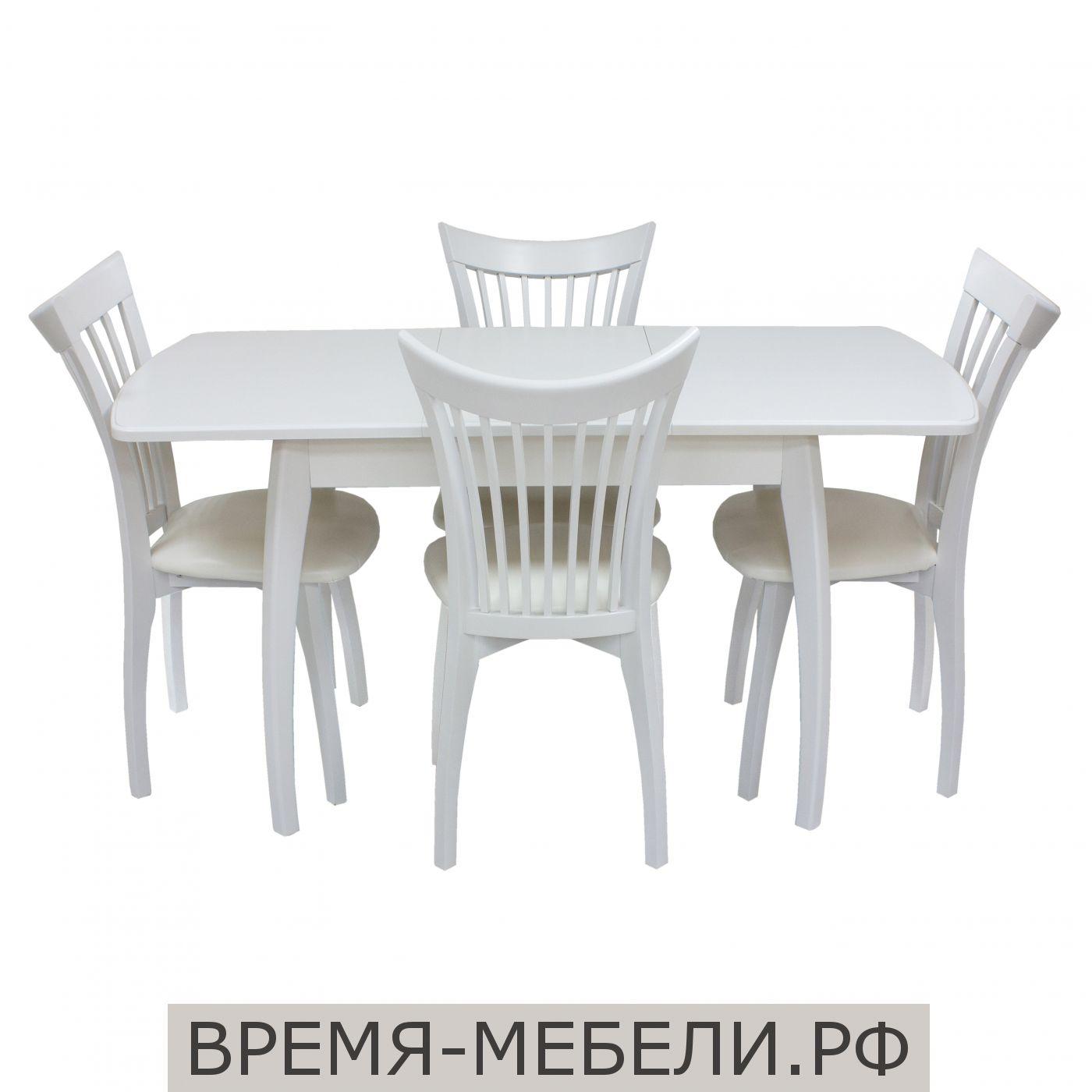 Стол раздвижной Шервуд р + 4 стула Орегон