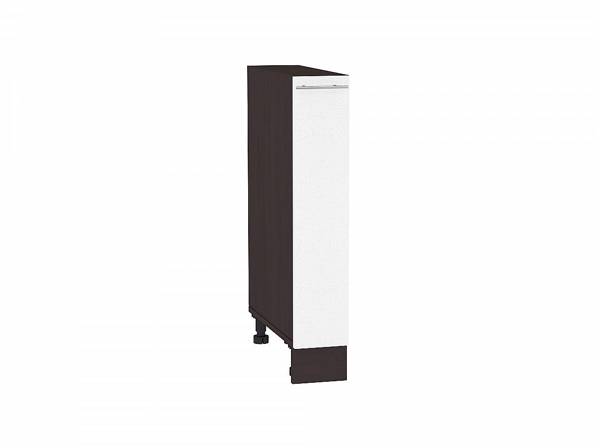Шкаф нижний бутылочница Валерия НБ200 (белый металлик)