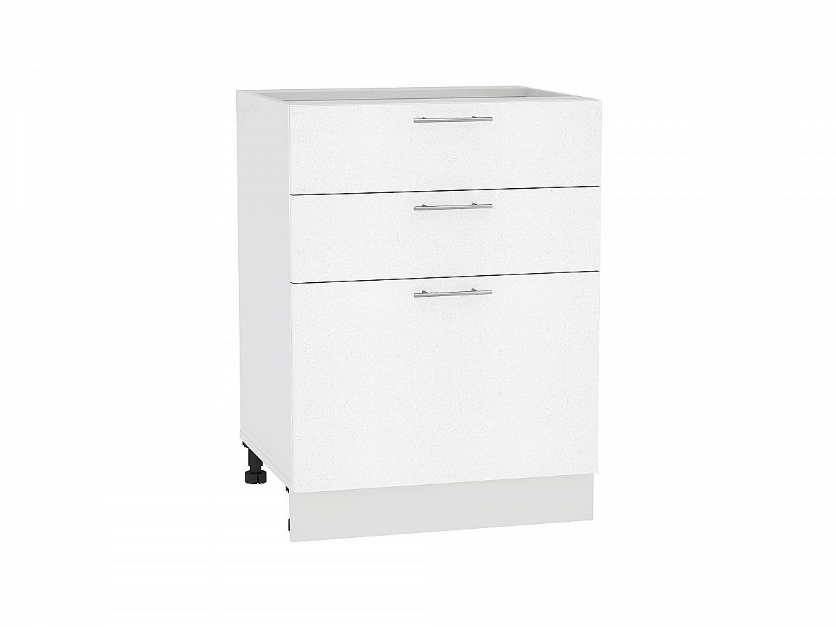 Шкаф нижний Валерия Н603 (белый металлик)