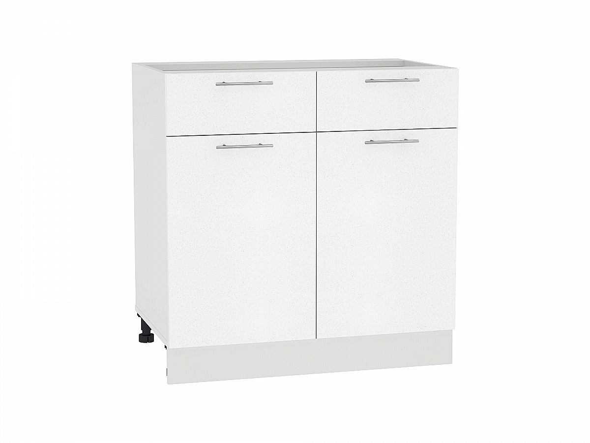Шкаф нижний Валерия Н801 (белый металлик)