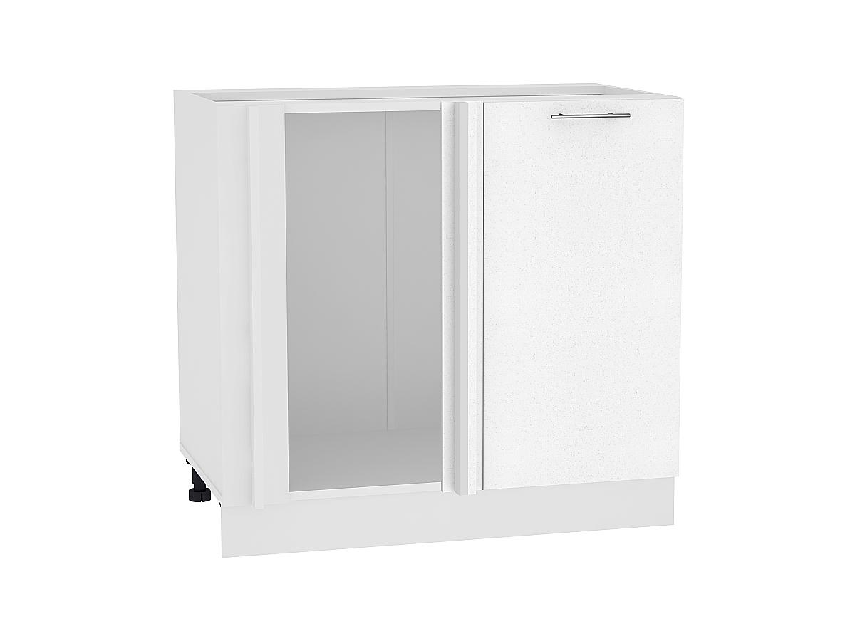 Шкаф нижний угловой Валерия НУ990 (белый металлик)