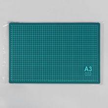Мат для резки, двусторонний, 45 × 30 см, А3, цвет зелёный