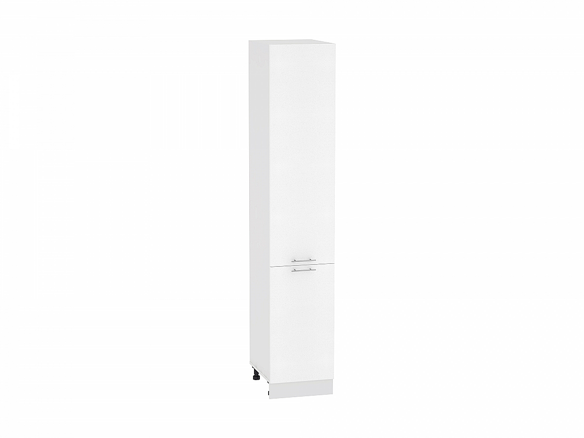 Шкаф пенал с 2-мя дверцами Валерия ШП400 (белый металлик)