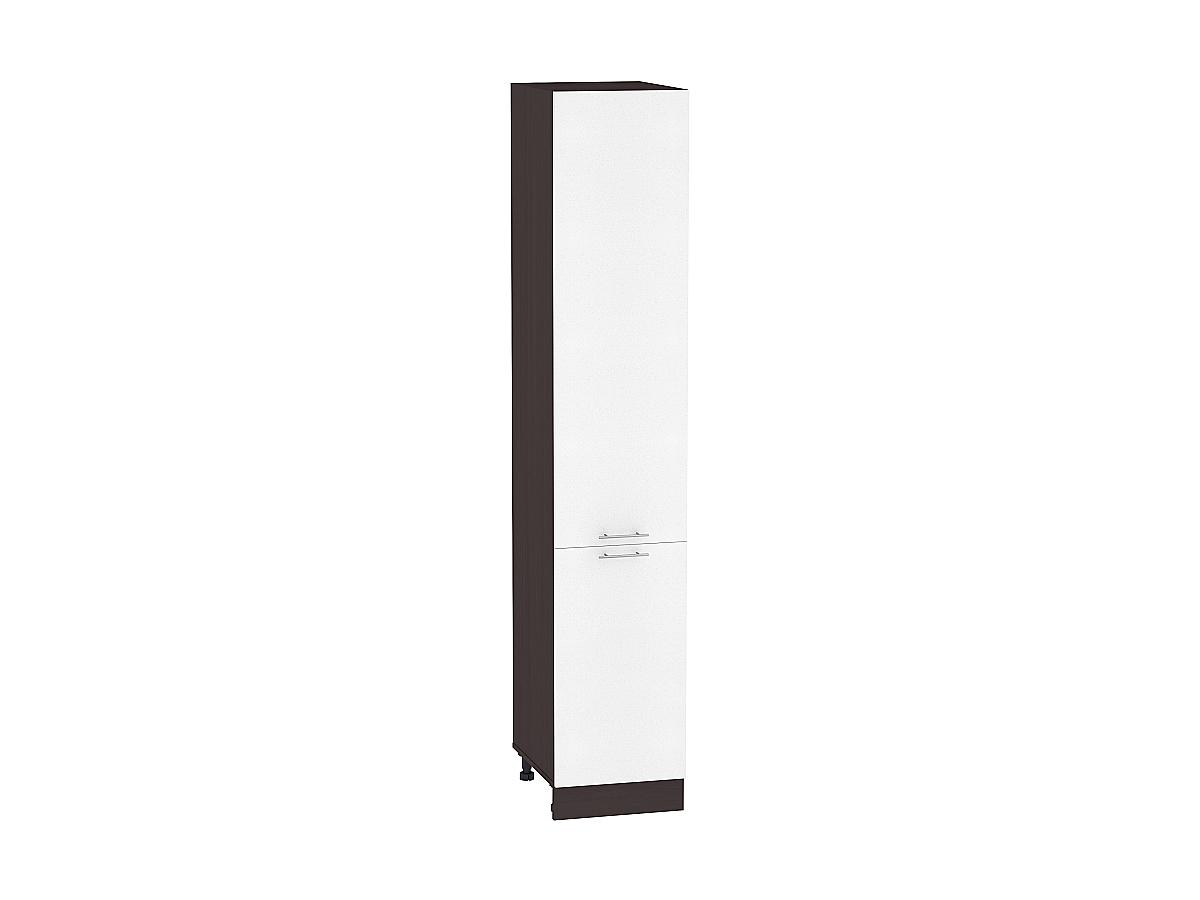 Шкаф пенал с 2-мя дверцами Валерия ШП400Н (белый металлик)