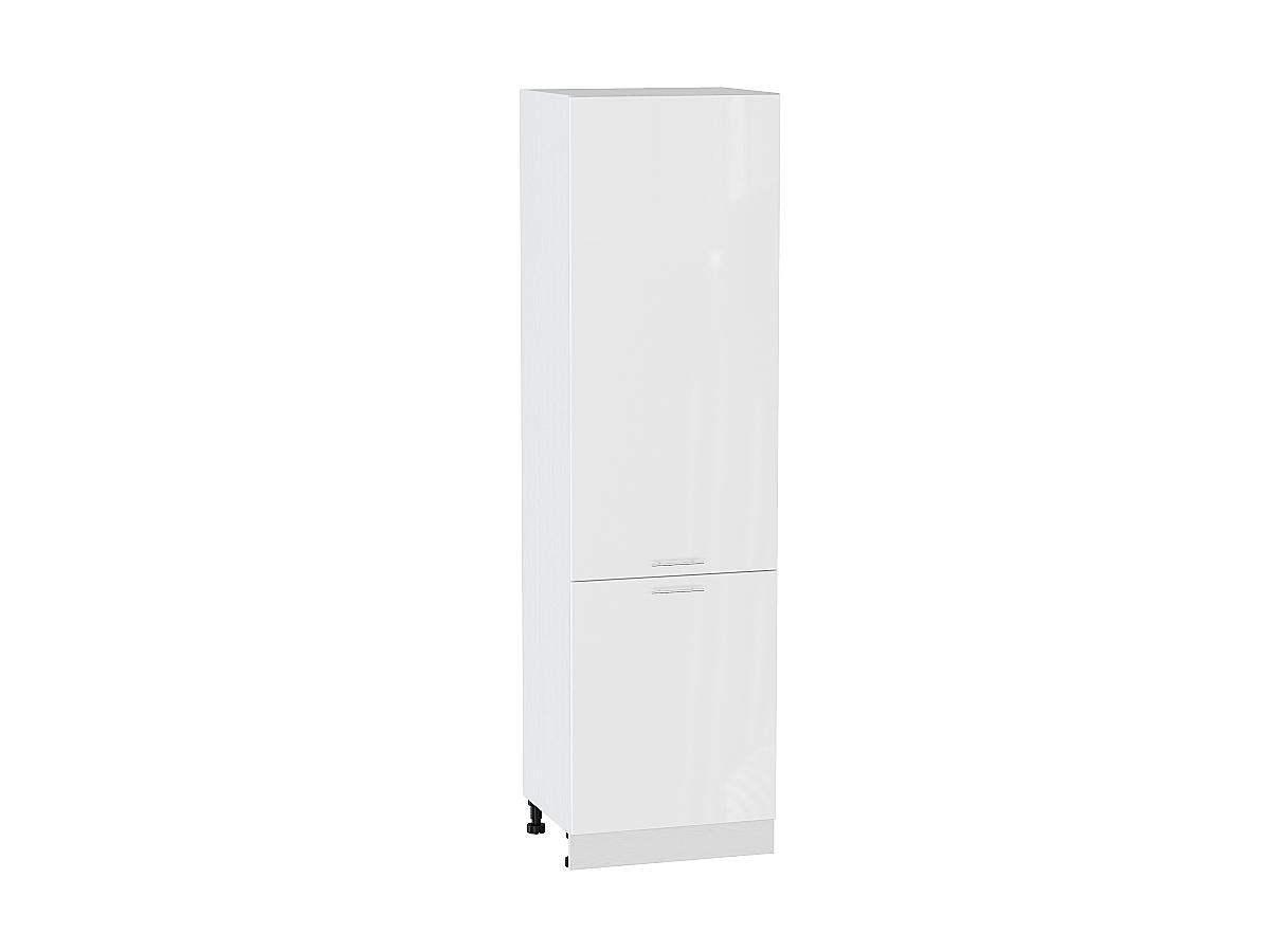 Шкаф пенал с 2-мя дверцами Валерия ШП600 (белый металлик)