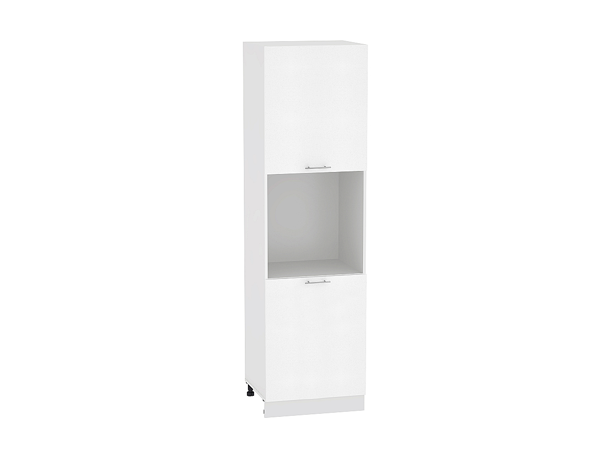 Шкаф пенал с 2-мя дверцами Валерия ШП600Н-Ф47 (белый металлик)