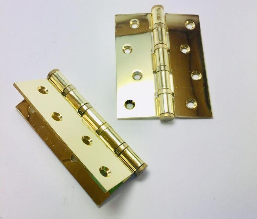 Дверная петля универсальная, 100мм, золото, Керрон