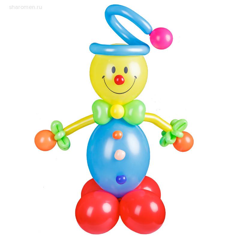Фигурка из шаров Клоун-смайлик