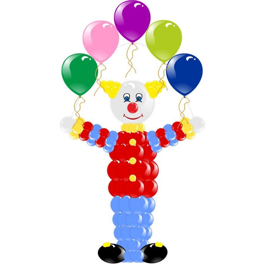 "Фигура из шаров ""Клоун -жонглер"""