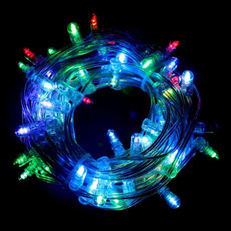 LED-гирлянда  (10м, 65 разноцветных светодиодов)