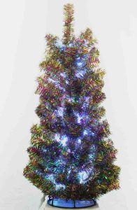Ель зелёно-цветная с белыми огоньками (100 см)
