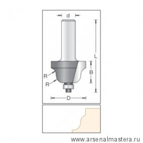 Фреза радиусная фаска римская с нижним подшипником DIMAR 34,9 x 20 x 67,5 x 12 R 6.3 1130049