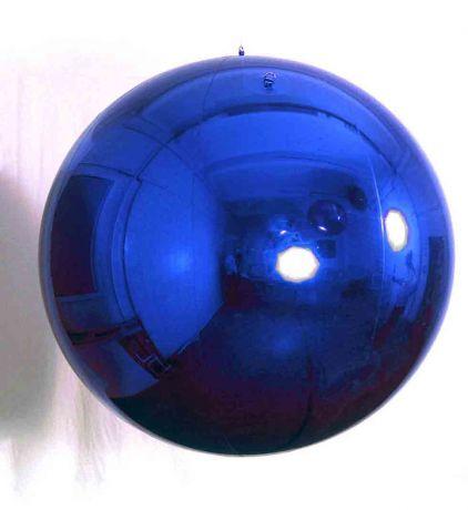 Шар надувной зеркальный, синий, 0,8 метра