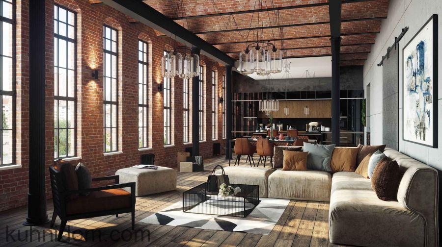 Кухня Kristali NEW (Кристали NEW) с диваном