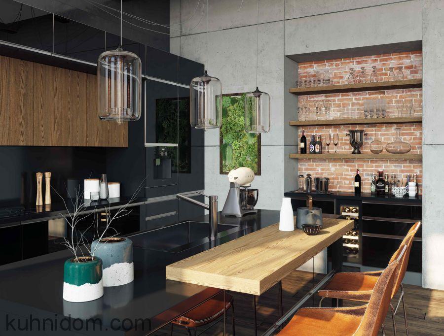 Кухня Kristali NEW (Кристали NEW) с открытыми полками