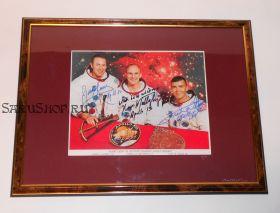 Автографы: экипажа «Аполлон-13» - Джим Ловелл, Кен Маттингли, Фред Хейз. Фото 1970 г. Редкость
