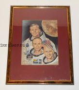 Автографы: экипажа «Аполлон-11» - Нил Армстронг, Базз Олдрин, Майкл Коллинз. Фото 1969 года. Редкость