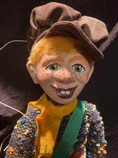 Кукла-марионетка Томми (друг Пеппи Длинный Чулок)  -  Tommy PIPPI DLOUHÁ PUNČOCHA  (Чехия, Praha, Hand Made, авторы  Ивета и Павел Новотные)