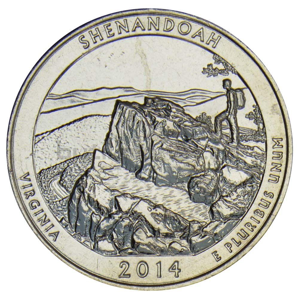 25 центов 2014 США Национальный парк Шенандоа S