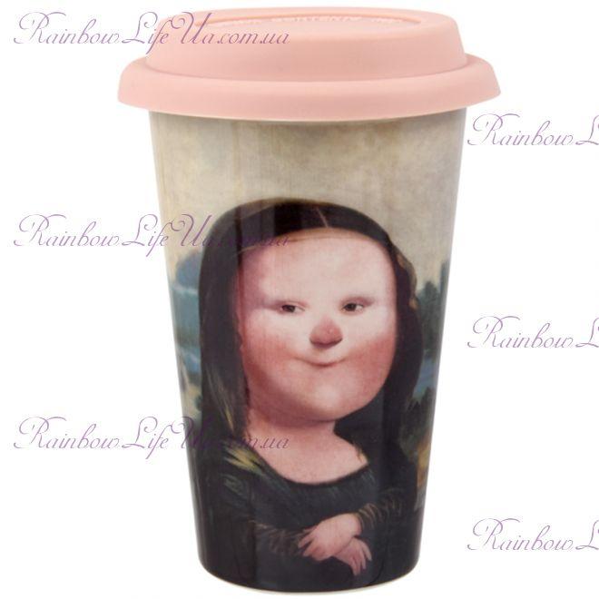 """Чашка с силиконовой крышкой 400 мл Мона Лиза """"Famous"""""""