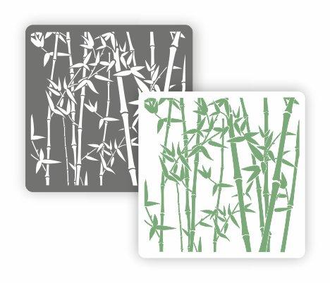 Трафарет для декора Арт-модуль, АМ-06, Бамбук, 15*15 см