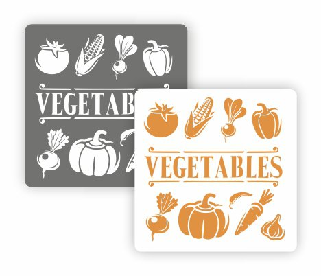 Трафарет для декора Арт-модуль, АМ-36, Vegetables, 15*15 см