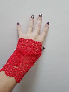 перчатки кружевные: черный, белый, красный