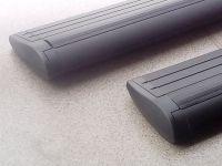 Багажник на крышу Toyota Highlander 2014-..., Lux, черные крыловидные дуги