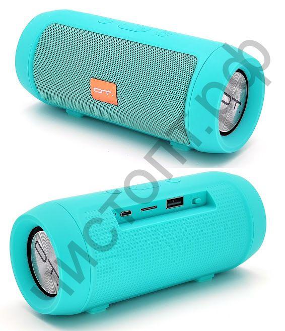 Колонка универс.с радио OT-SPB12 (TF, USB, FM) бирюзовая