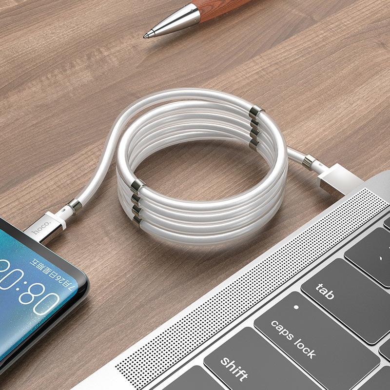 HOCO U91 Белый кабель USB 3A (TYPE-C) 1м