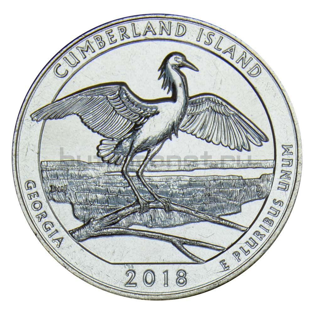 25 центов 2018 США Национальное побережье острова Кумберленд D
