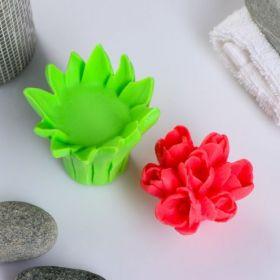 Силиконовая форма «подставка листья тюльпанов для букетов»