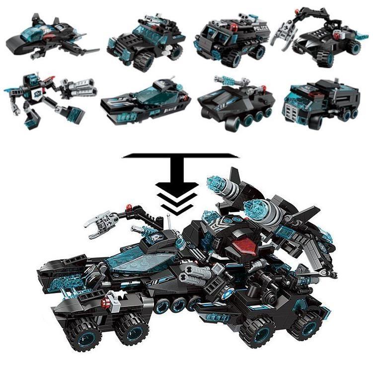 Комплект конструктора Blockformers Мегатрансфорсер из 8 штук