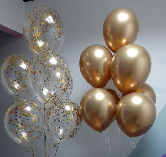 Гелиевые шары фонтаны золотые 2 шт
