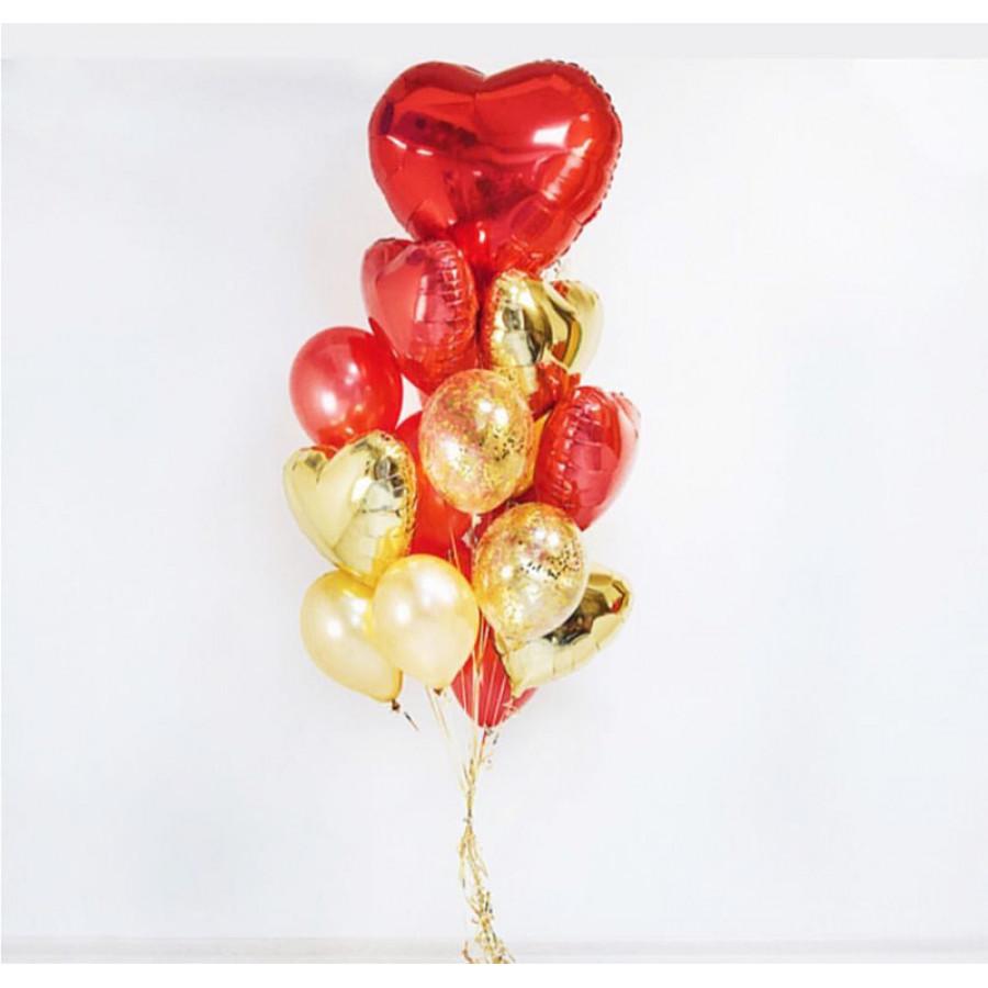 Композиция из  гелиевых шаров Любовь
