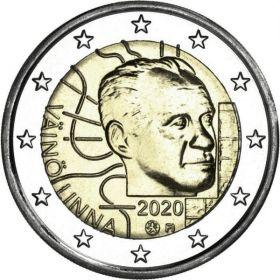 100 лет со дня рождения Вяйнё Линна 2 евро Финляндия 2020