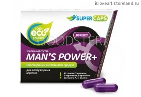 Средство возбуждающее Man's Power plus . Цена на сайте за 1 капсулу.