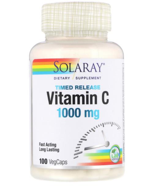 Solaray Витамин C с замедленным высвобождением 1000 мг 100  капс