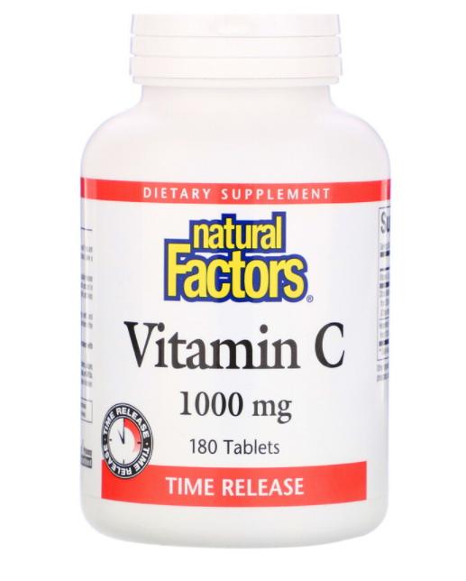 Natural Factors Витамин C 1000 мг 180 табл