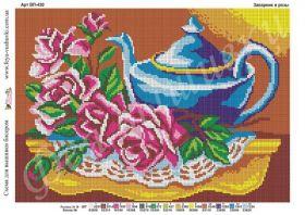 Фея Вышивки ВП-430 Заварник и Розы схема для вышивки бисером купить оптом в магазине Золотая Игла