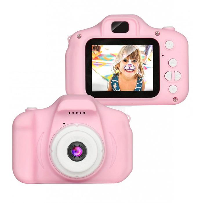 Детская цифровая камера Cartoon Digital Camera, Цвет Розовый